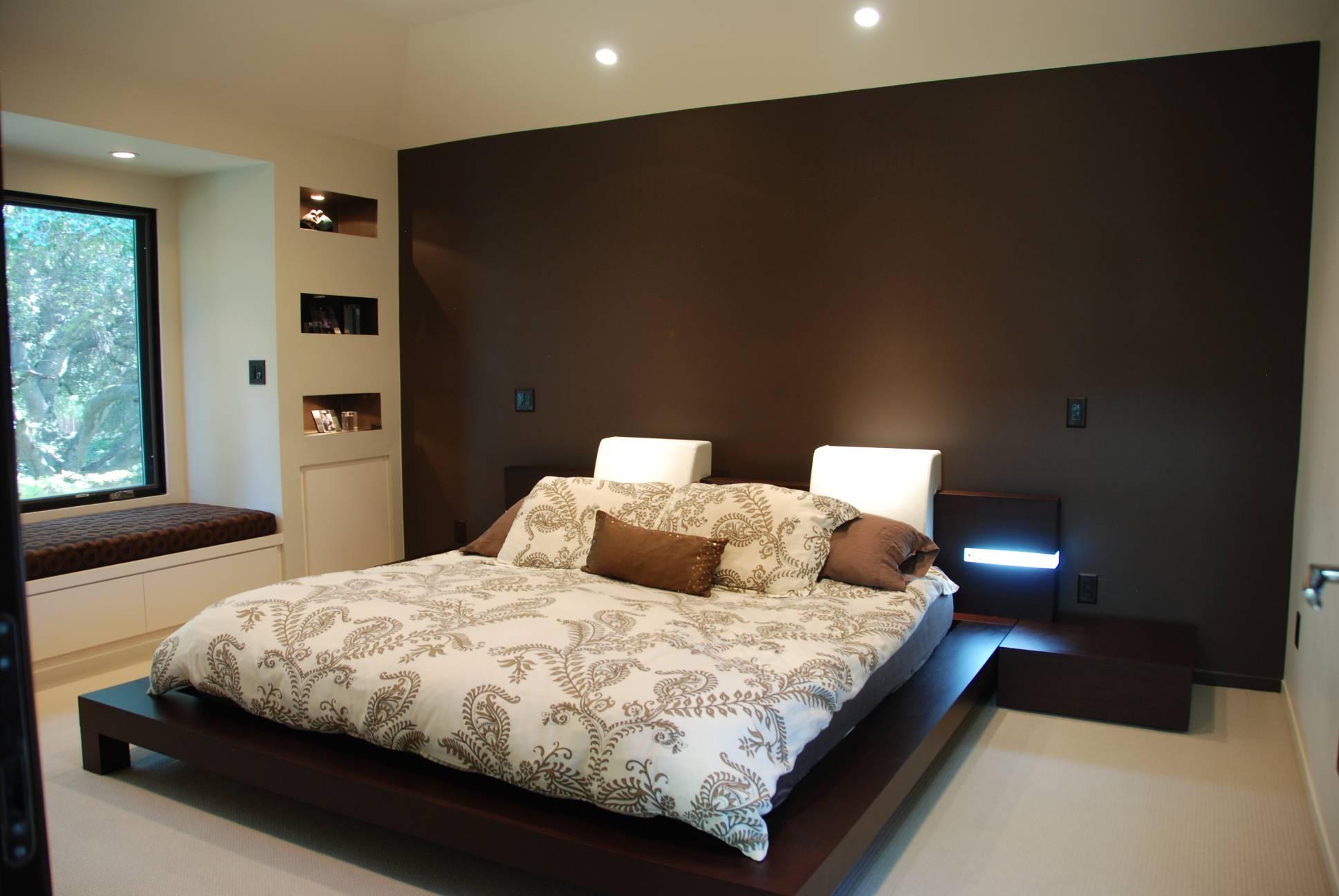 Bedroom reading nook, interior design, Los Altos