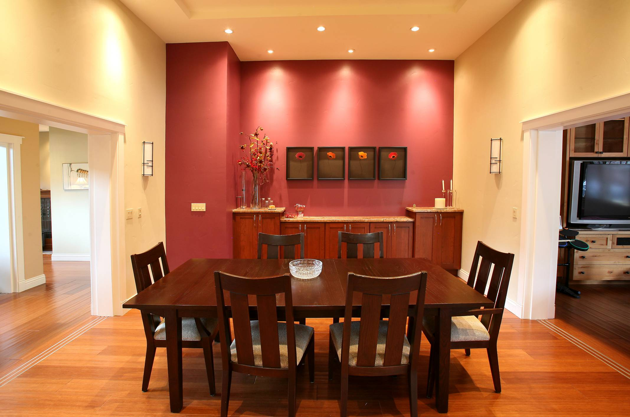 Dining room, interior design, architect work, Los Altos