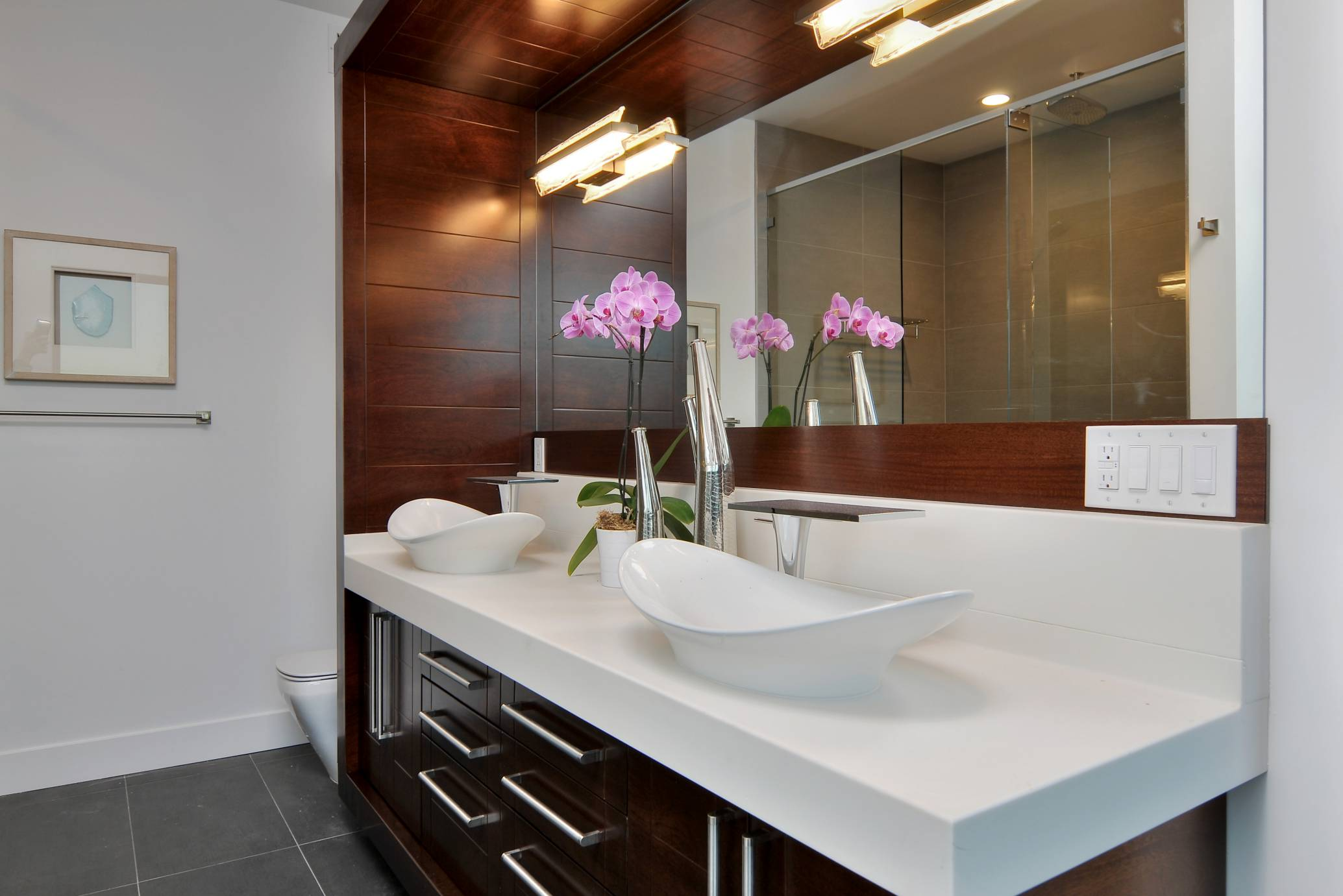 Double sink bathroom, Los Altos Hills