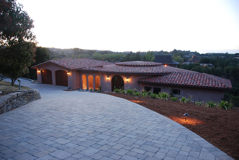 Driveway, archtitect design, Los Altos Hills