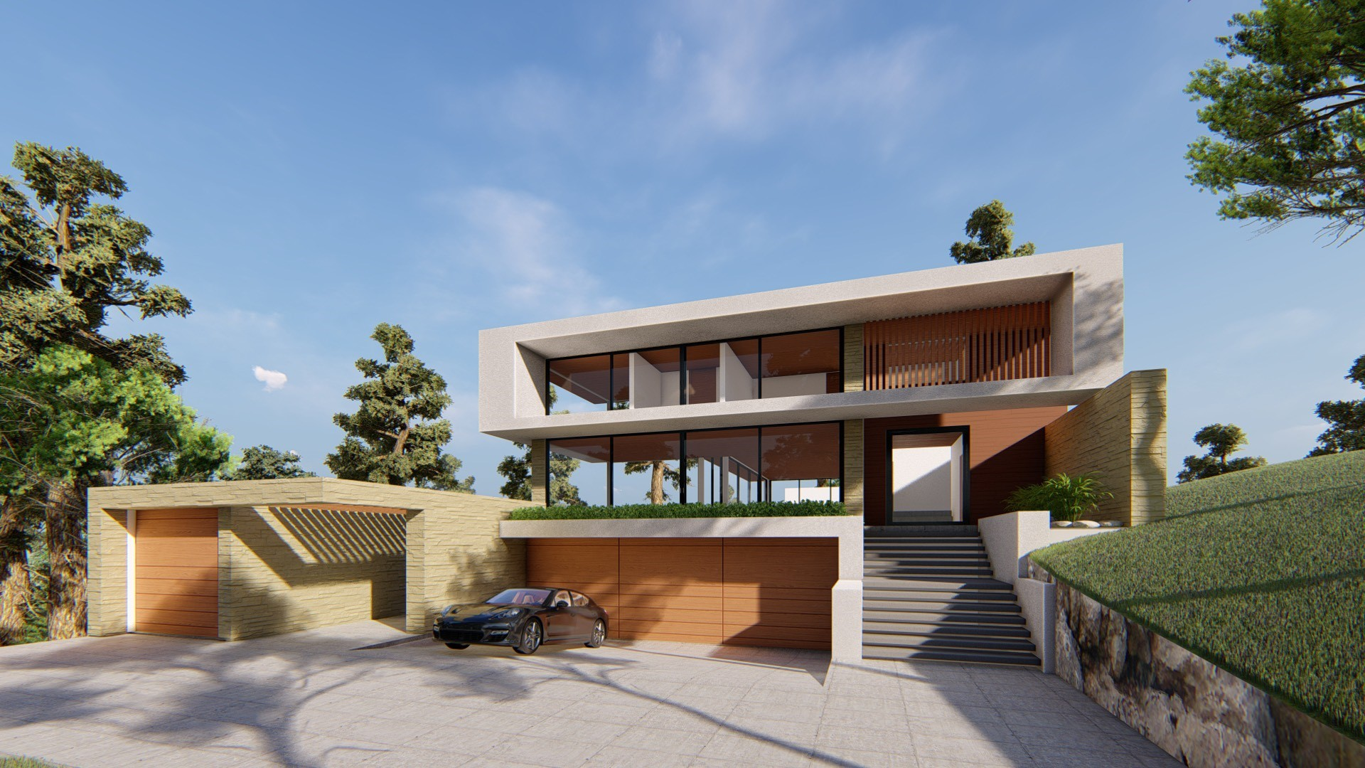Entry view design,Los altos hills
