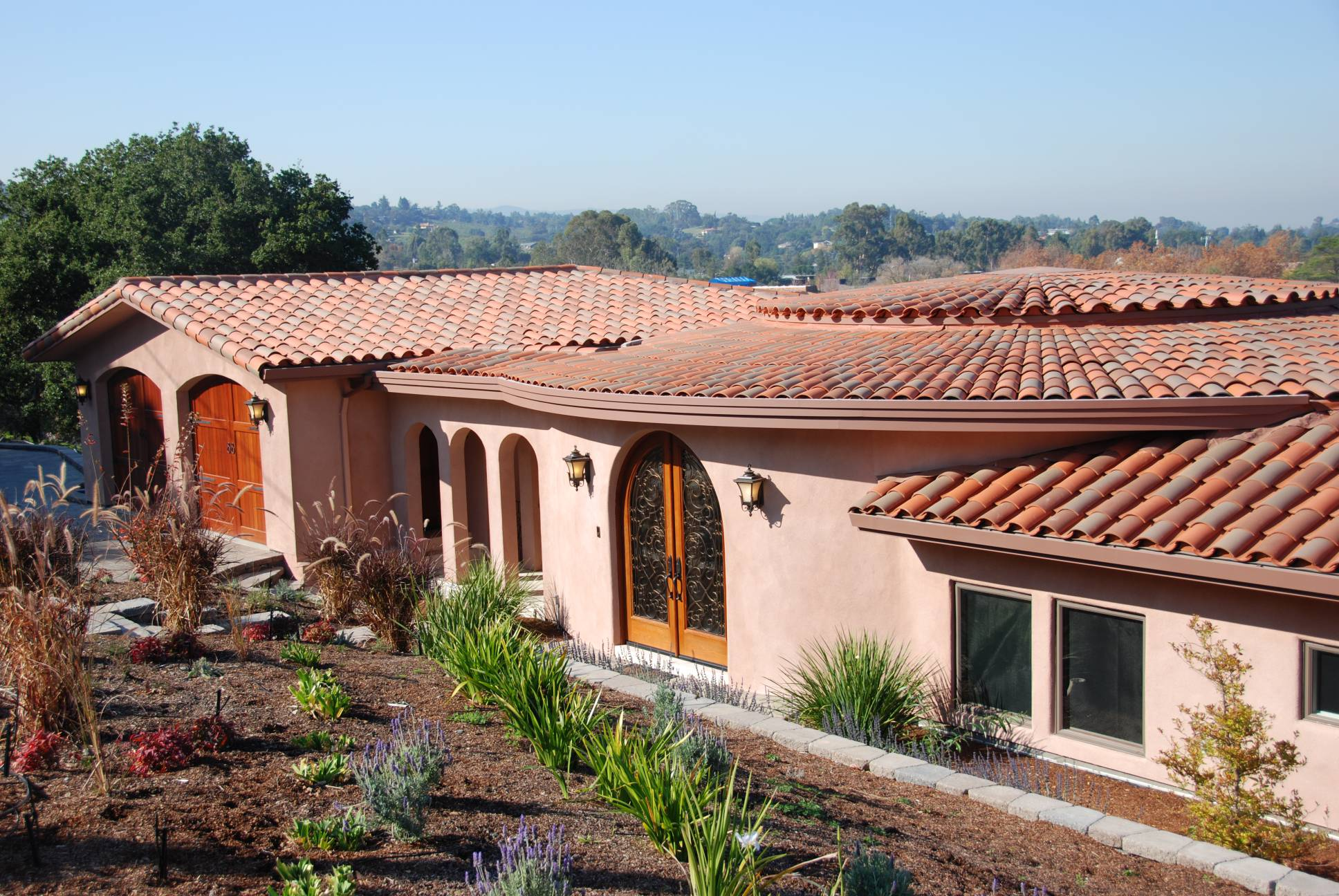 Modern Exterior tile roof, architect design work, Los Altos Hills