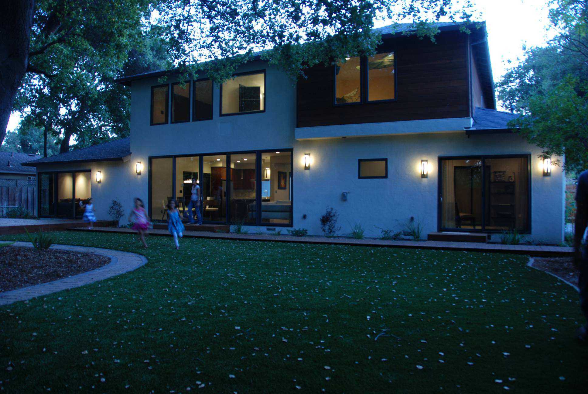 Exterior wood cladding, architect design, Los Altos