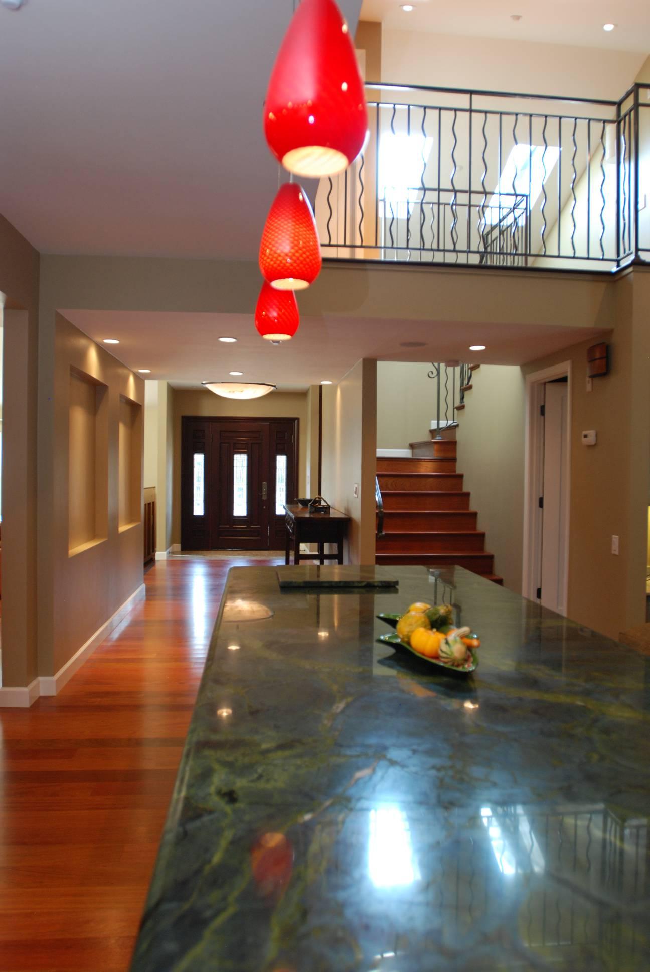 Foyer Hallway, Architect design, interior design work, Mountain View