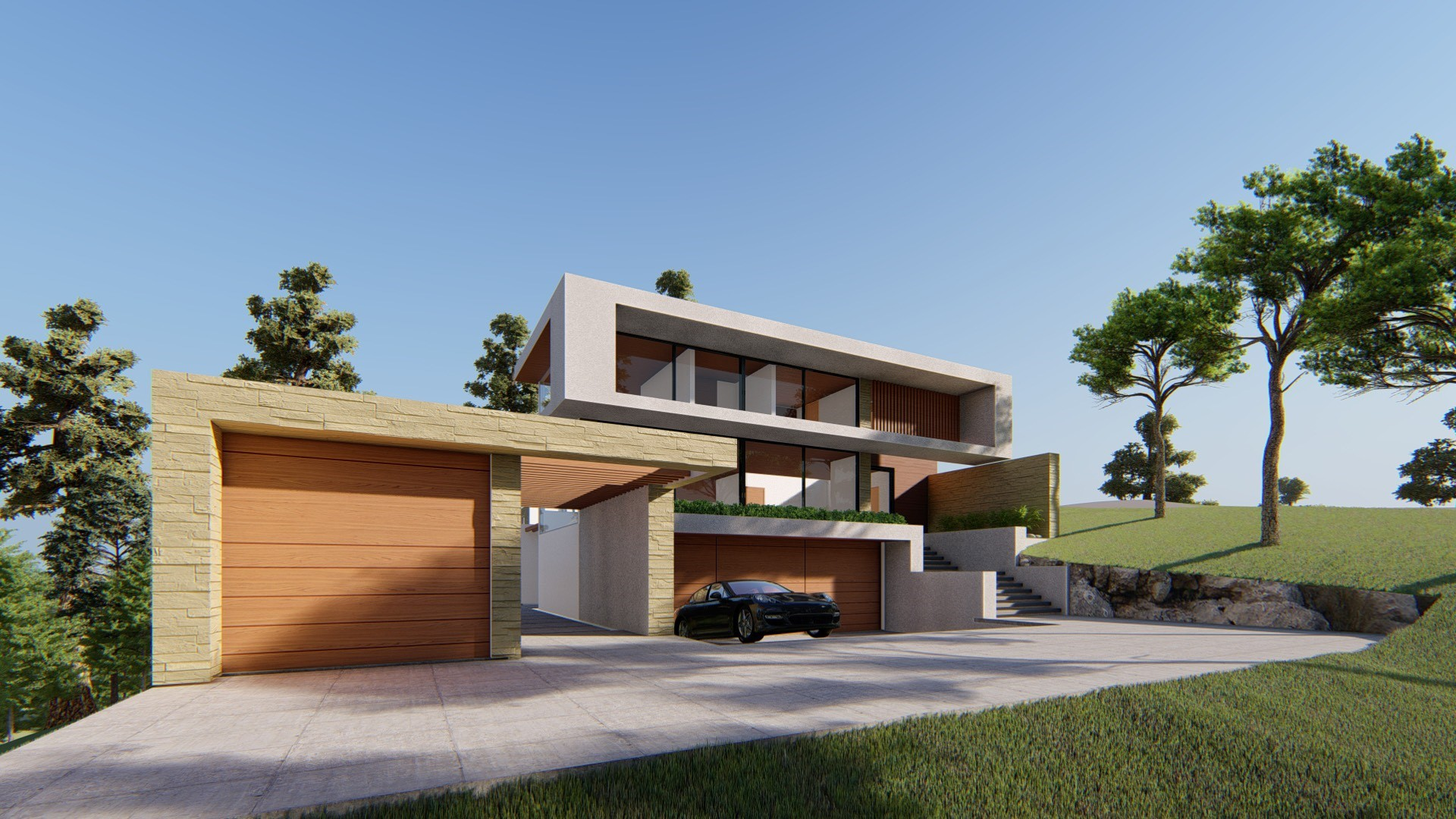 Front View Building Design, Los altos, Best Exterior Design, Los altos hills, California, San Francisco