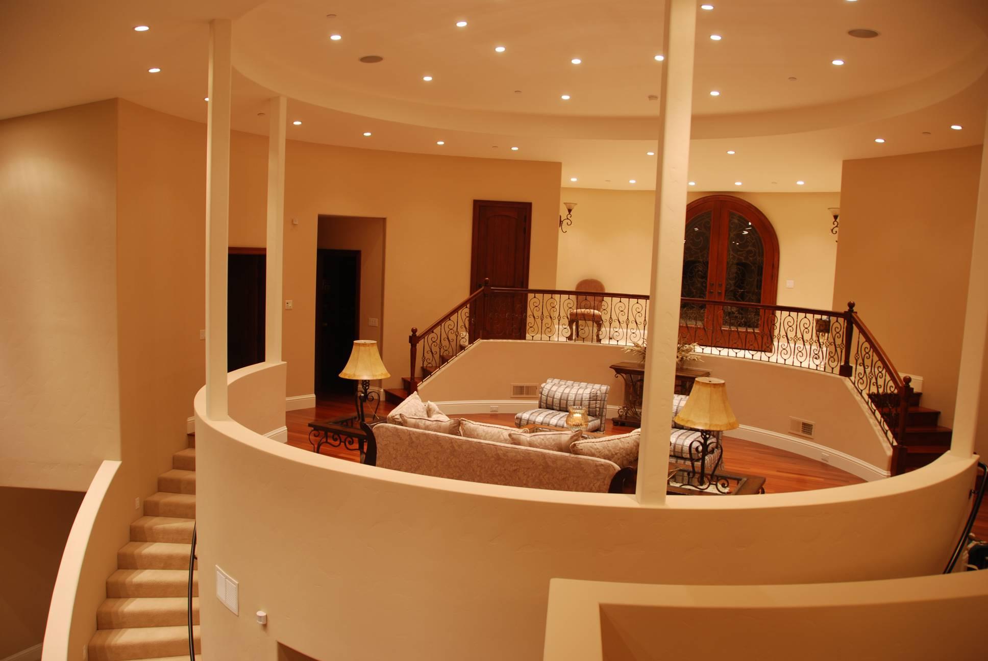 Modern great room, interior design, Los Altos Hills