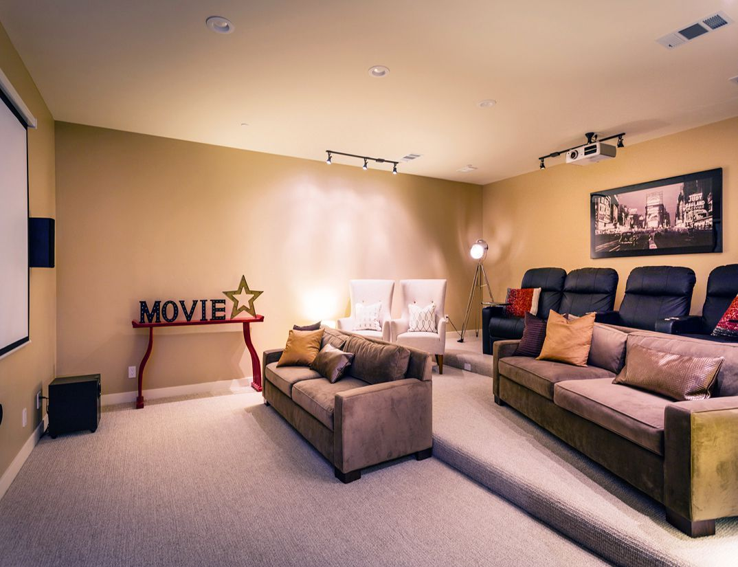 Home Theater, interior work, Los Altos Hills