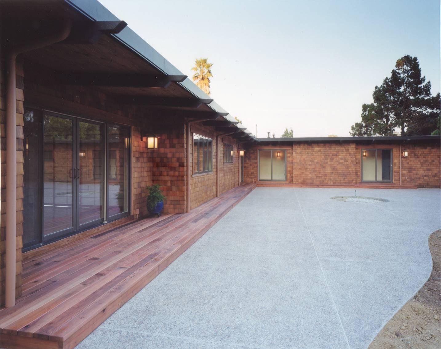 Japanese exterior courtyard, best architect work, Los Altos Hills