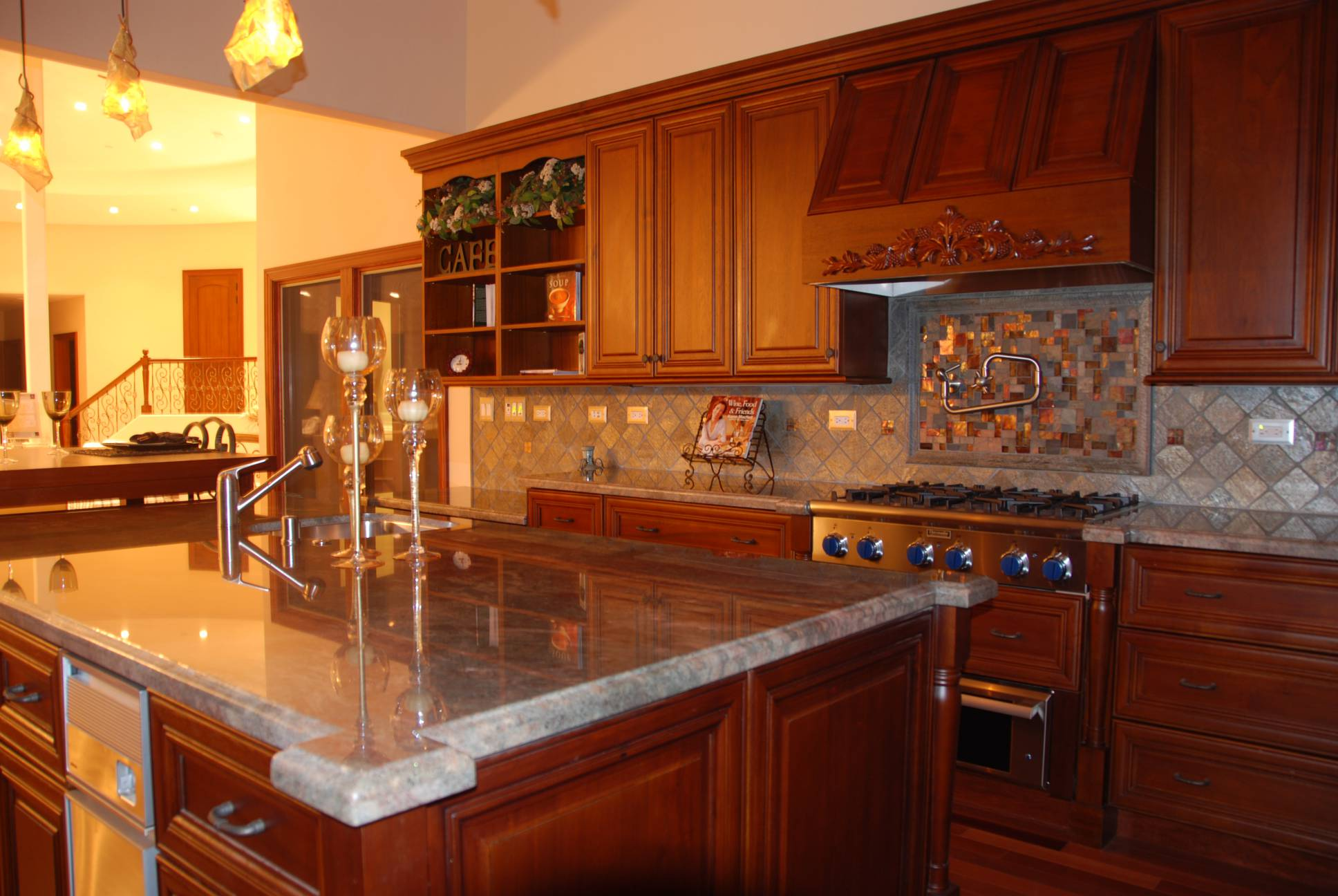 Kitchen grey countertops, interior work design, Los Altos Hills