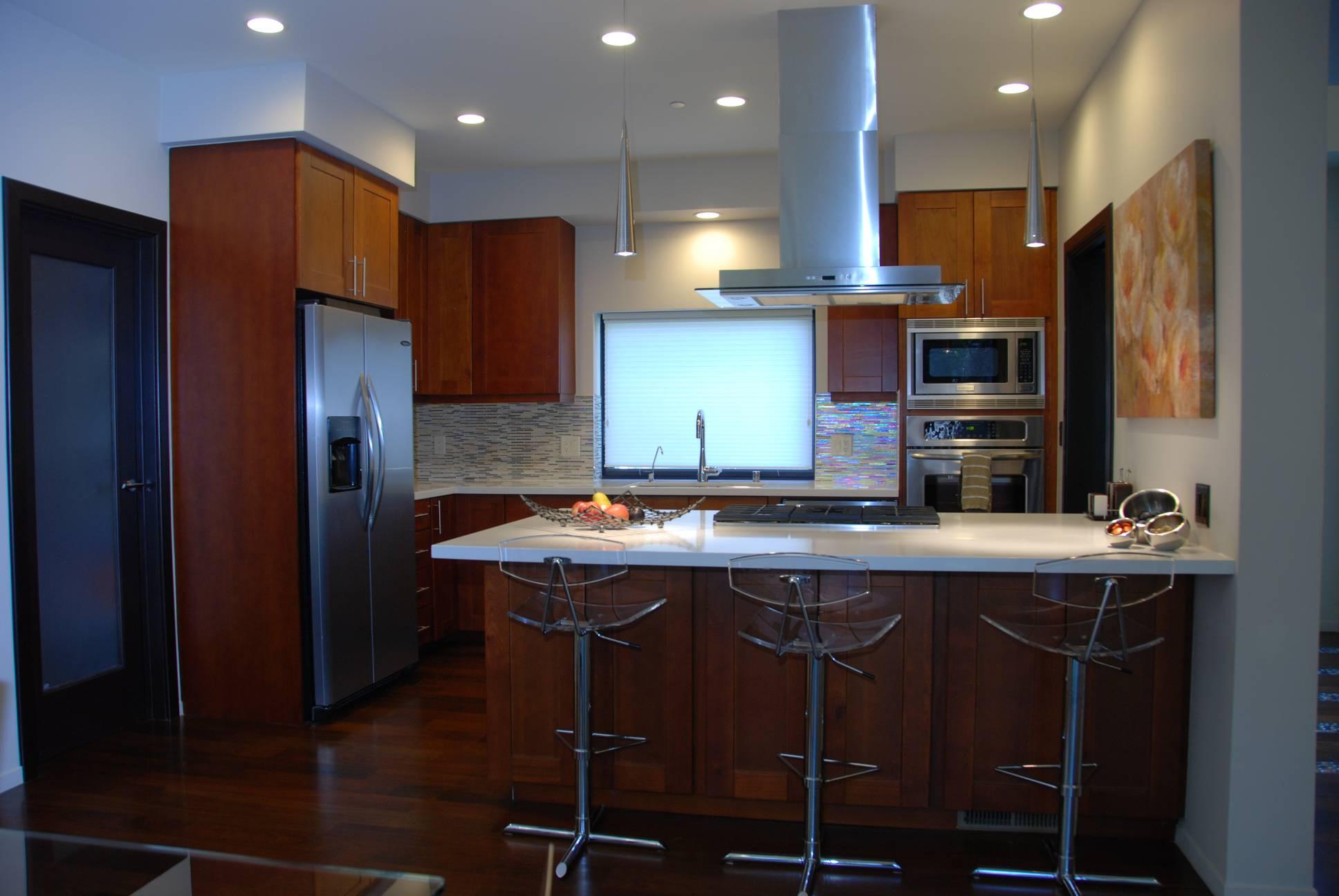 Kitchen with White Countertops, interior design work, architect design, Los Altos