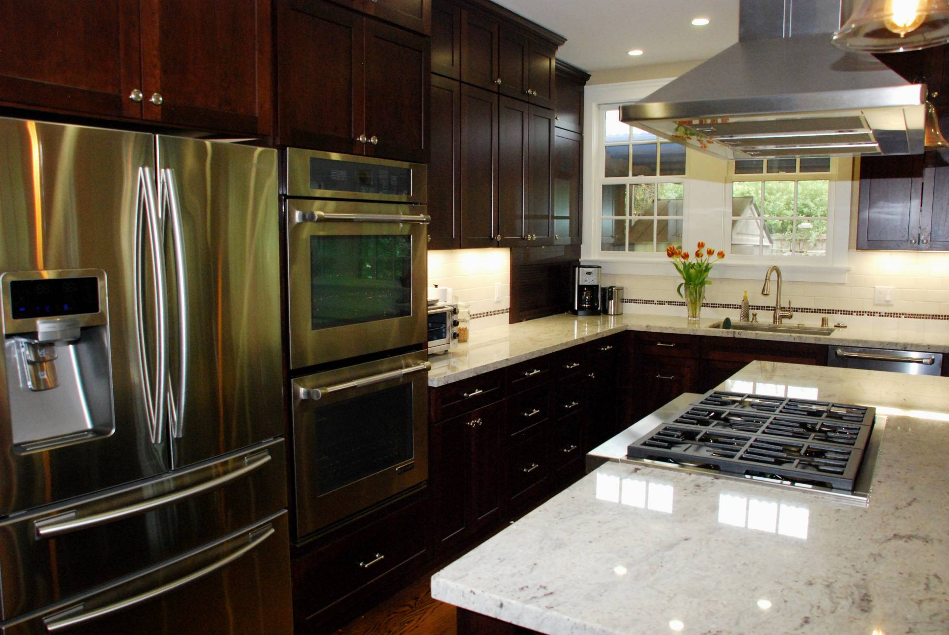 Kitchen with dark cabinets, Architect work, Interior design work, Palo Alto