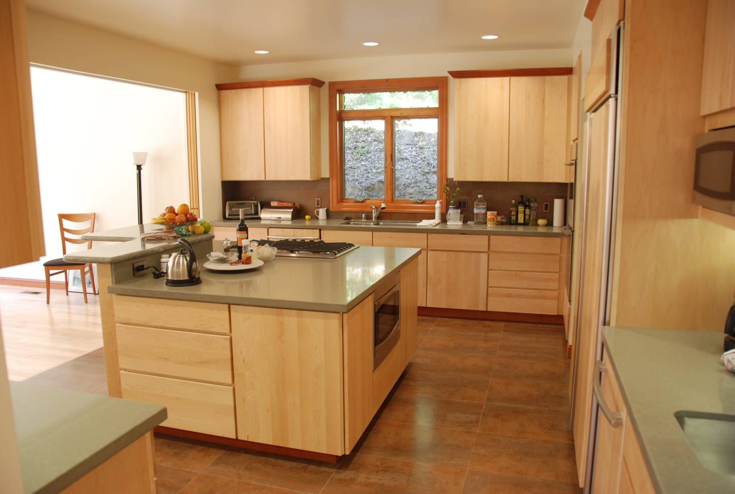 Kitchen with grey countertops, architect design work, Menlo Park