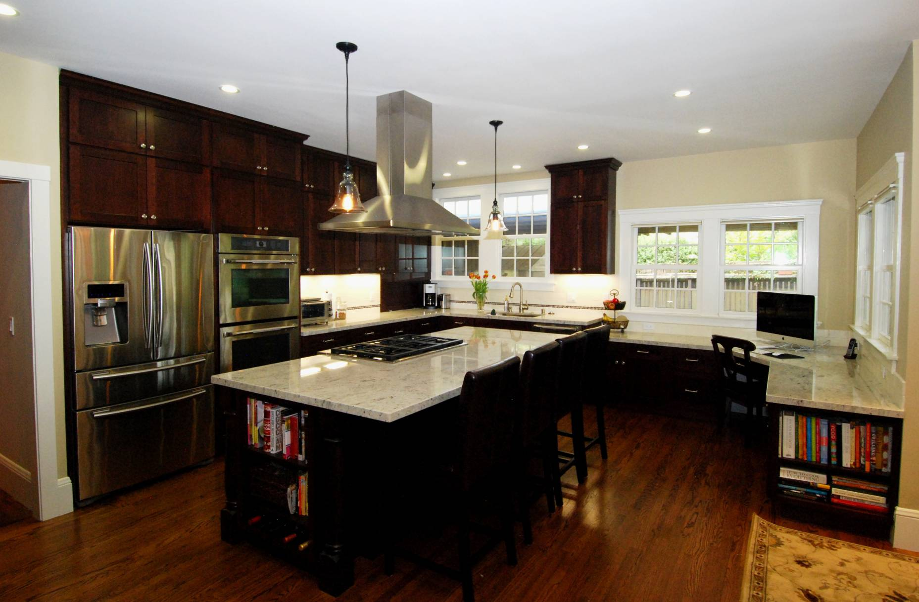 Kitchen with wood floors, Architect work, Interior design work, Palo Alto