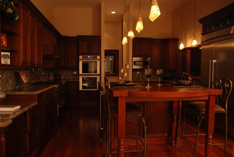 Kitchen wood floors, interior design, architect work, Los Altos Hills
