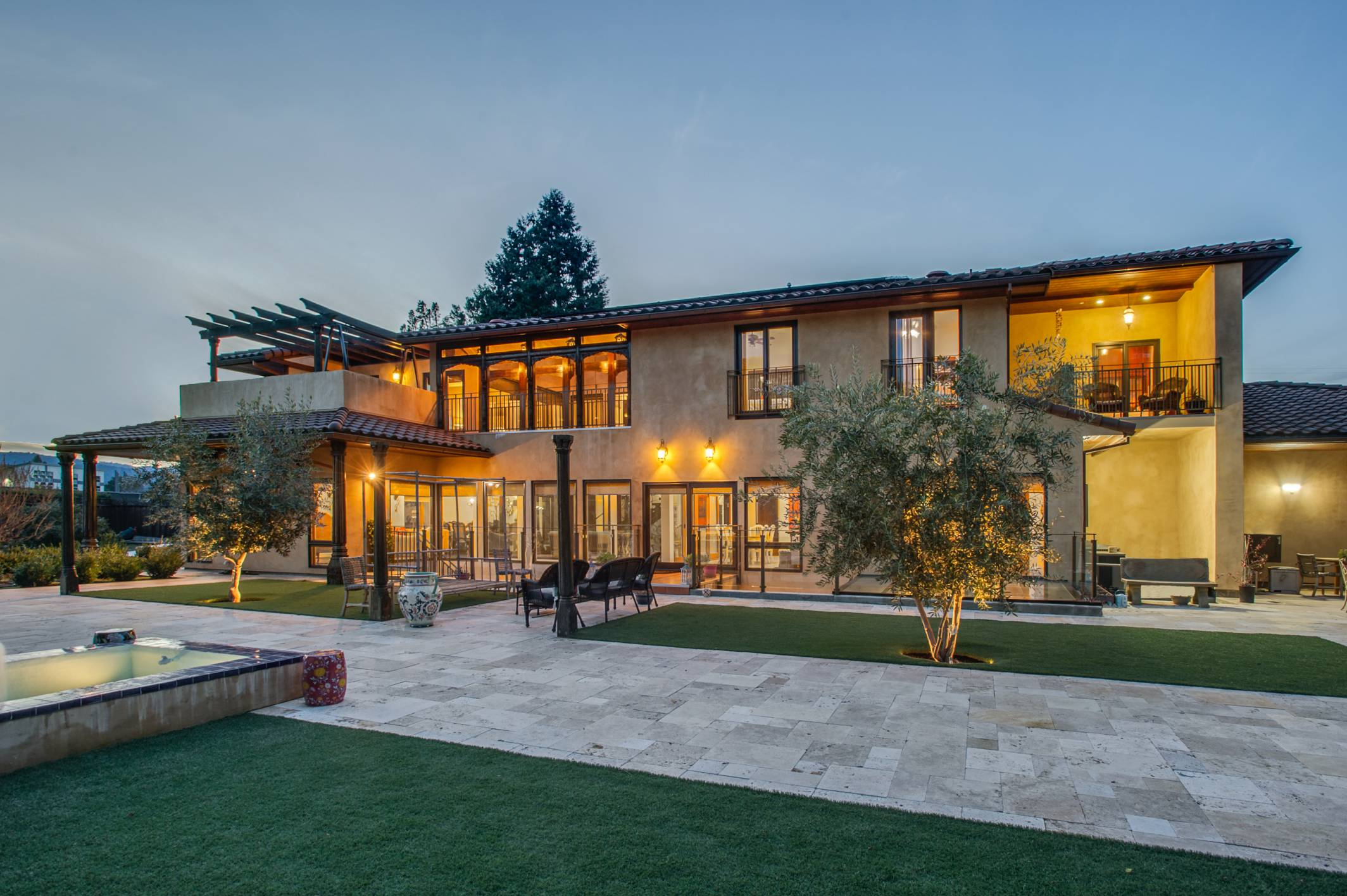 Classical mediterranean Mogul residence, architect design work, Los Altos