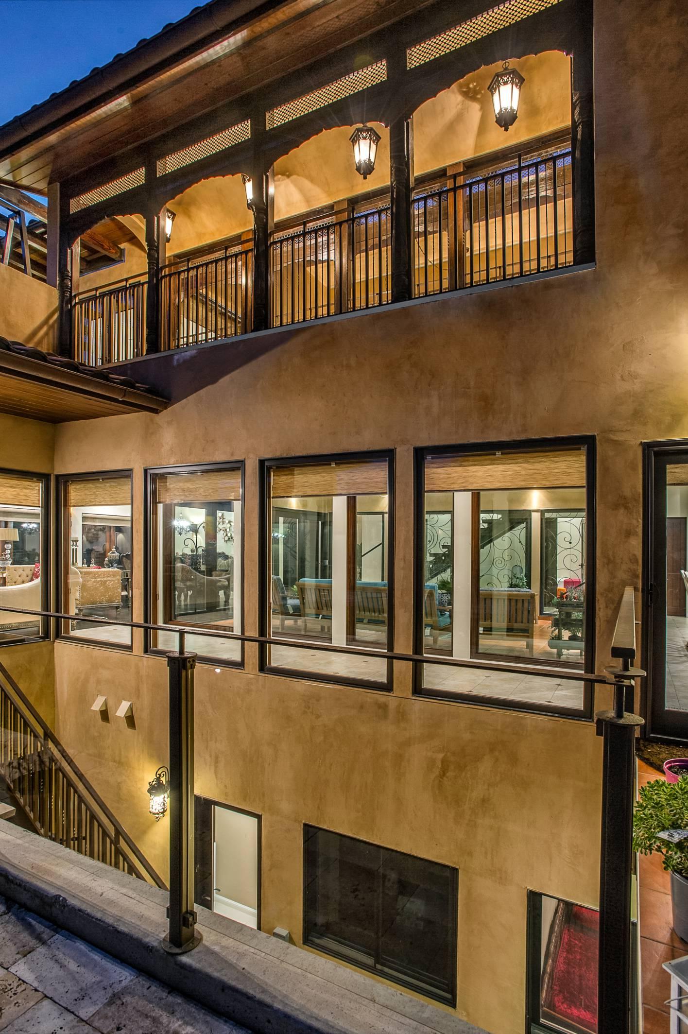 Deluxe mediterranean mogul architecture design, exterior work, Los Altos