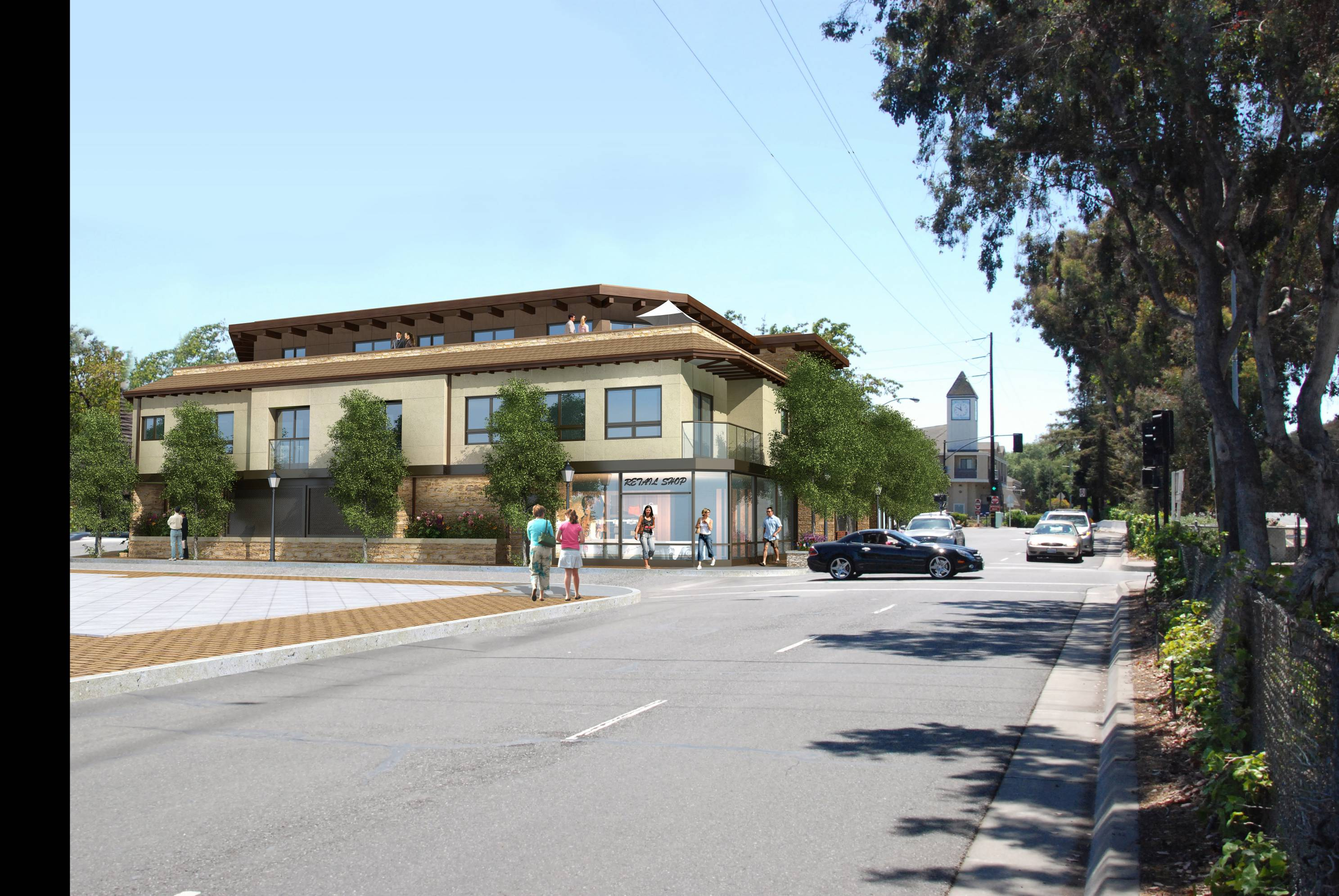 Los Altos modern mixed use