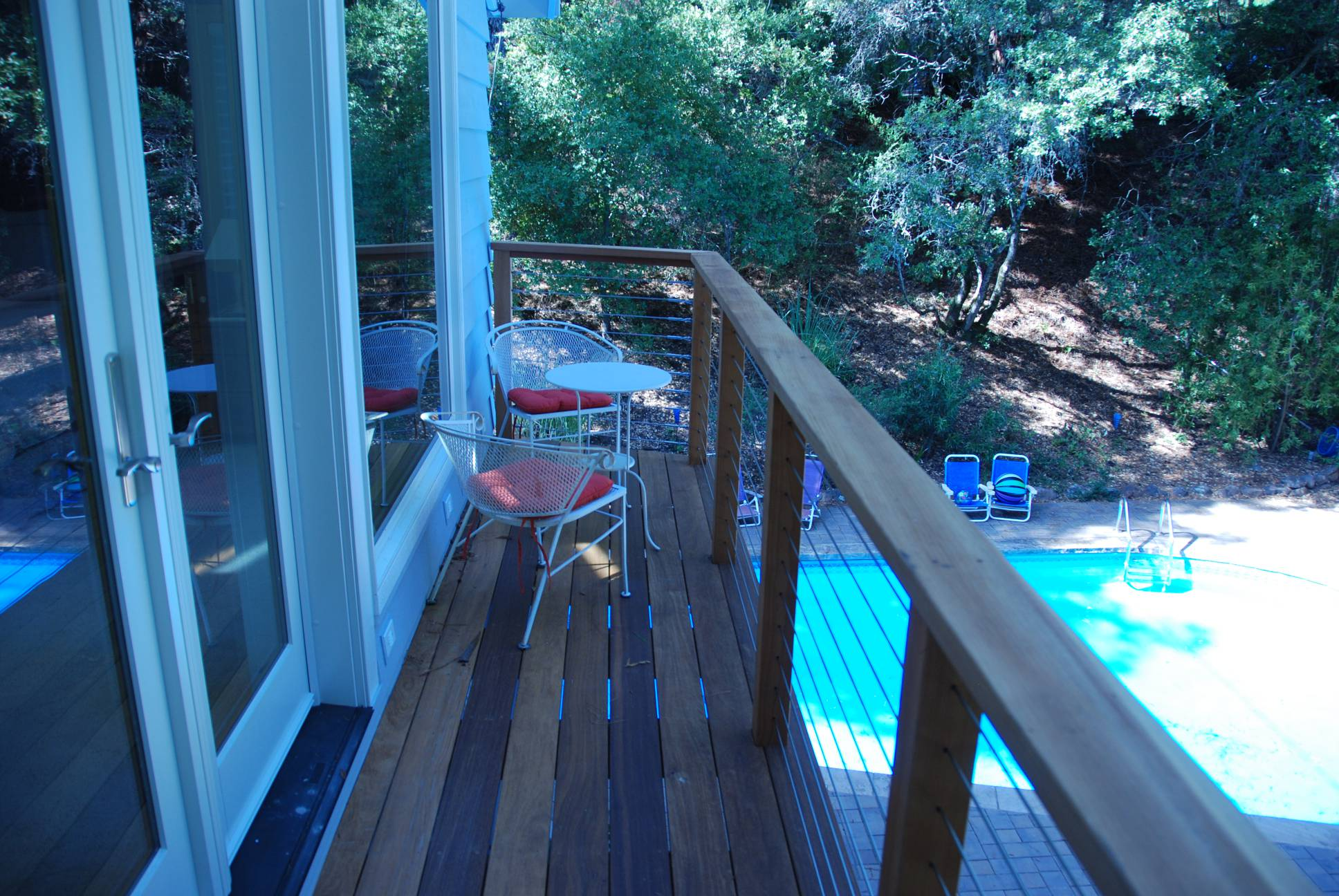 Master balcony pool view, Architect design, exterior design work, Woodside