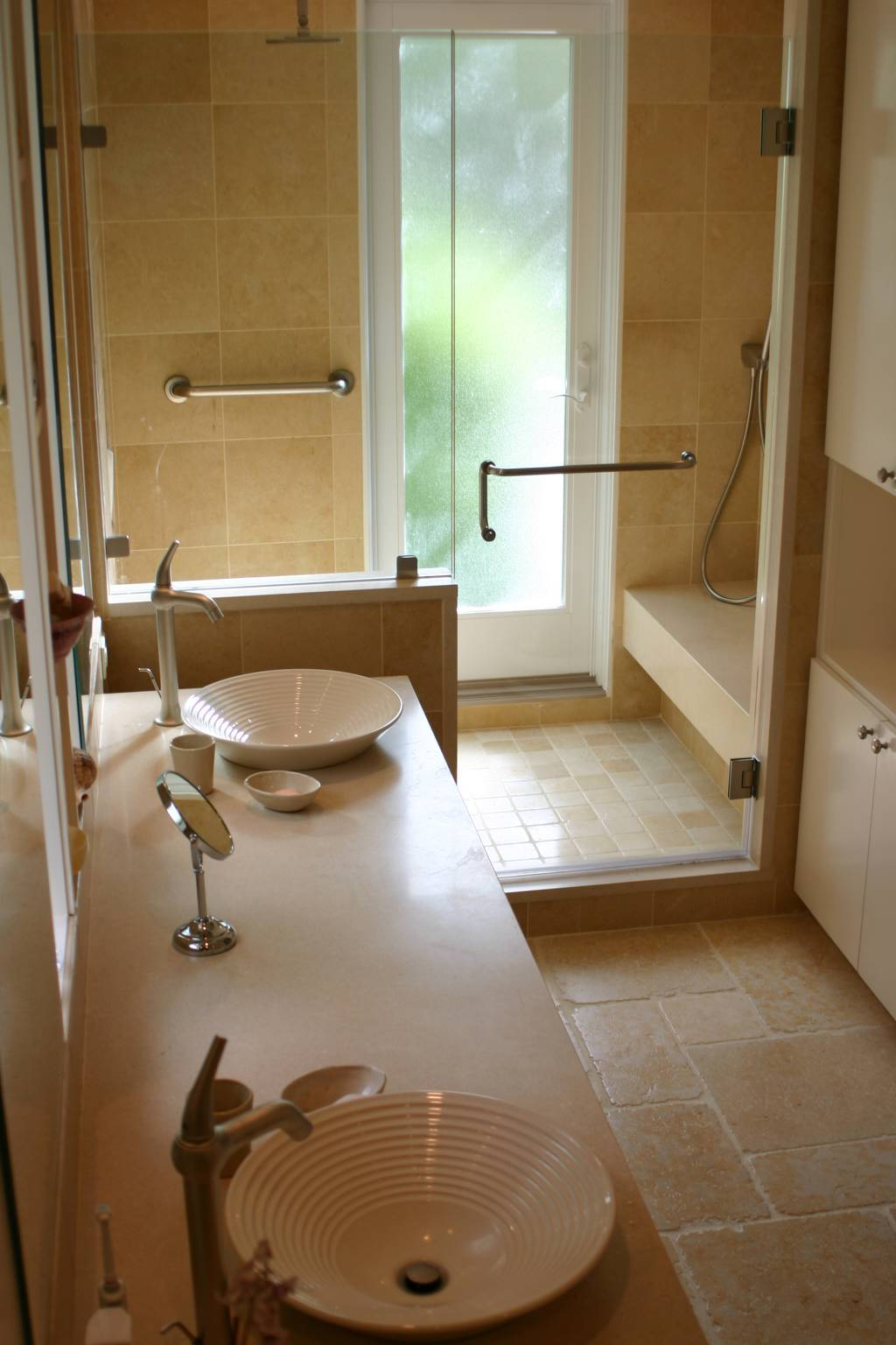 Master bathroom double sink, Los Altos Hills