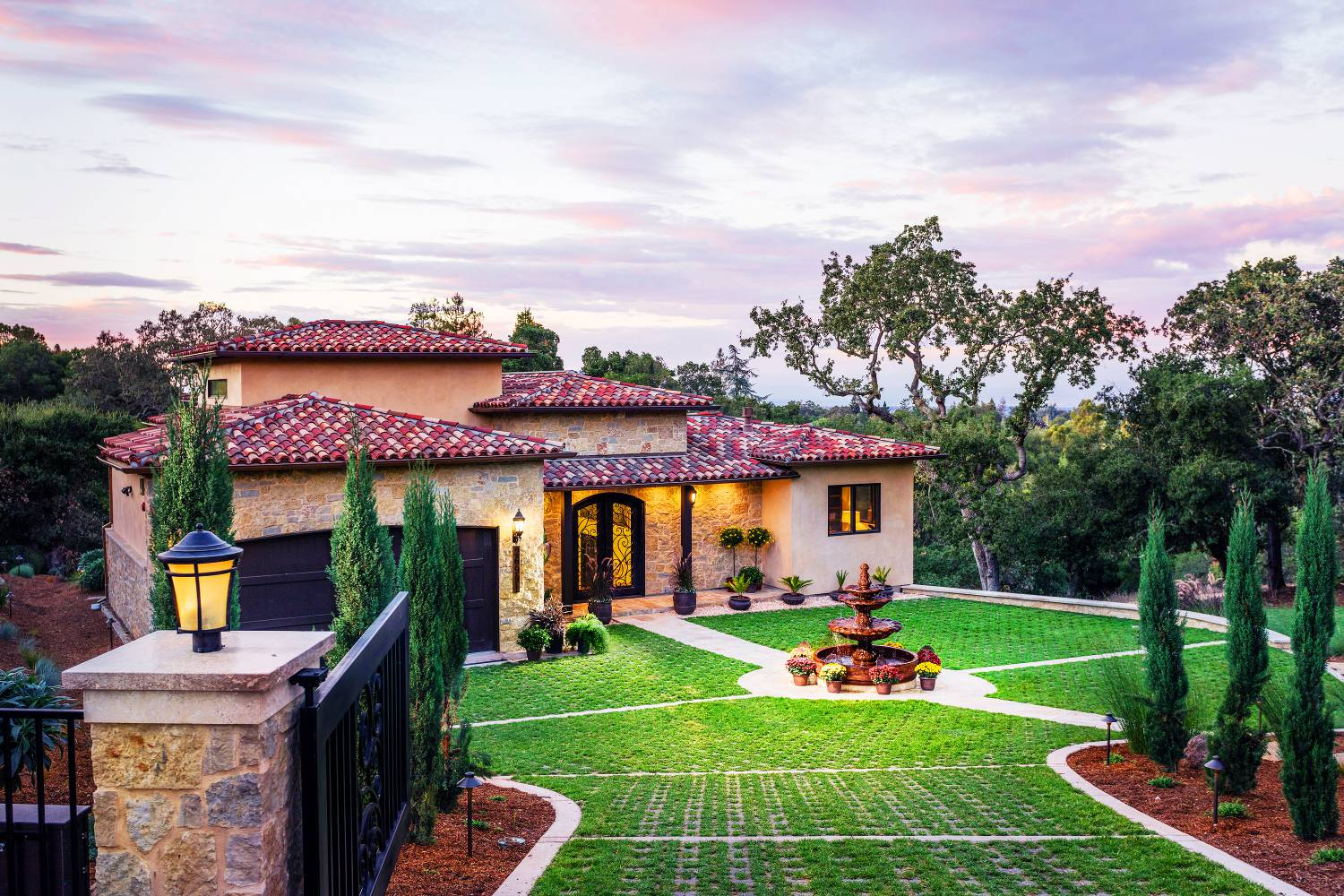 Magnificent outdoor view, architect design, exterior work, Los Altos Hills