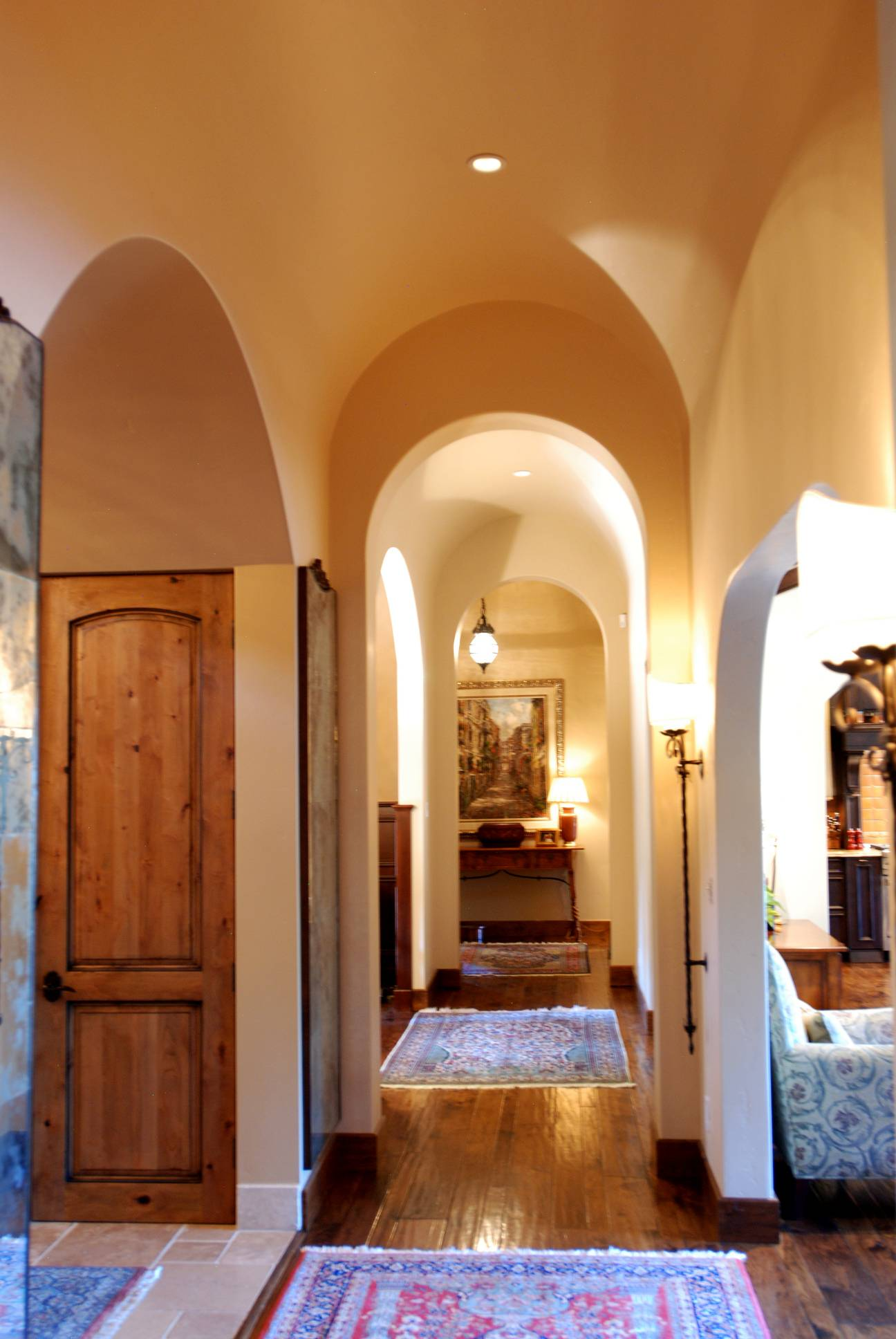 Mediterranean entryway front corridor wood flooring, best interior work design, architect design, Los Altos Hills