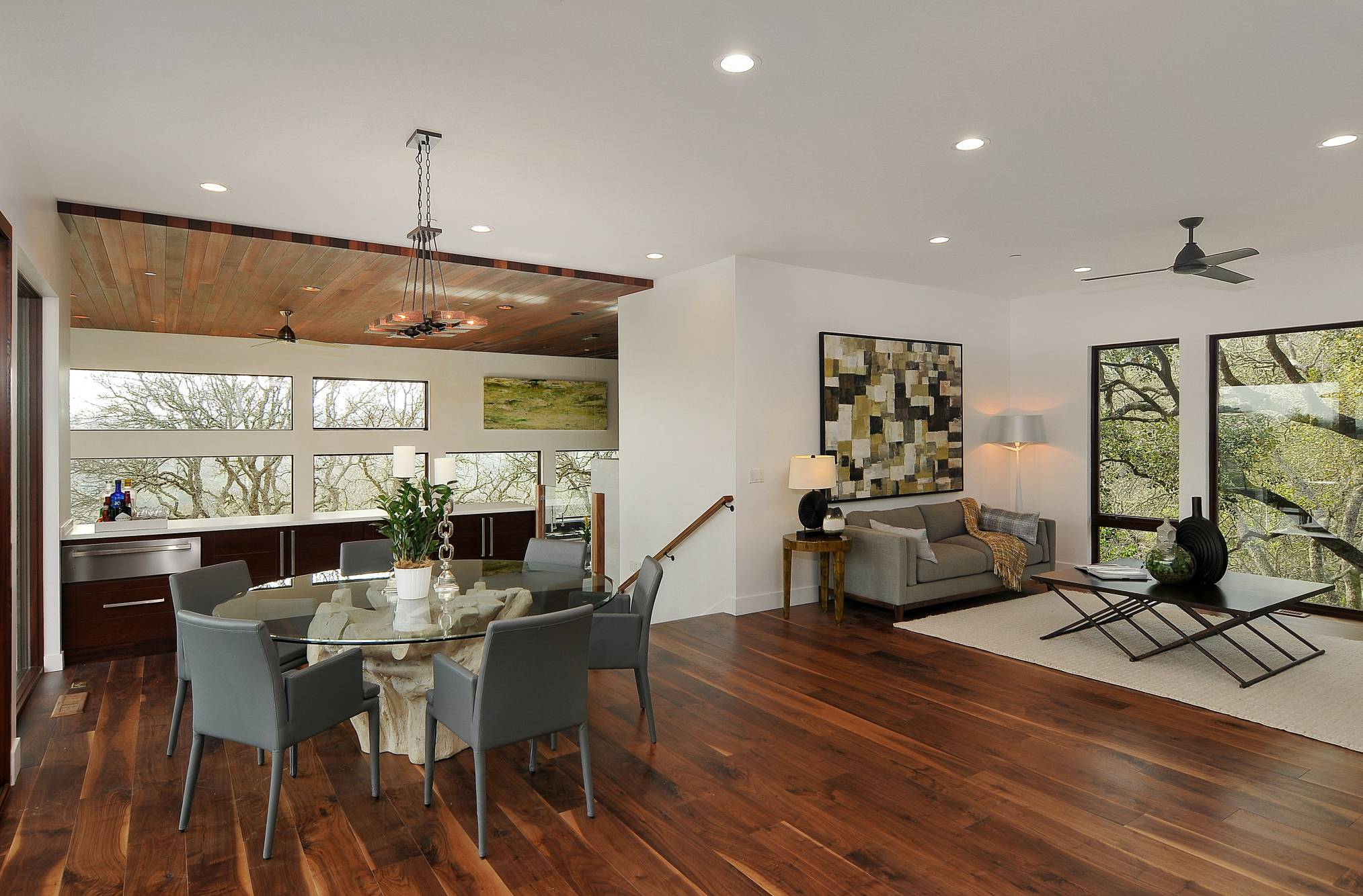 Modern dining room design, Los Altos Hills