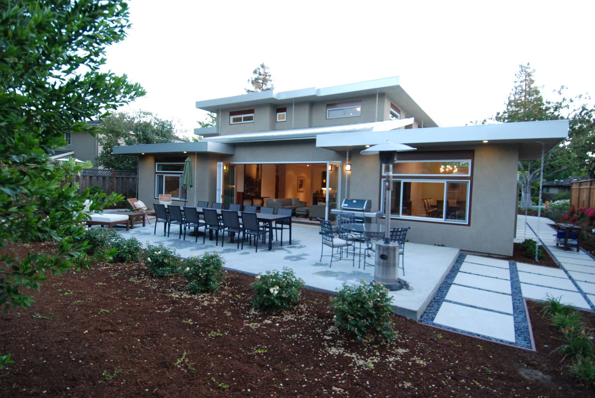 Modern exterior backyard, architect design, Palo Alto
