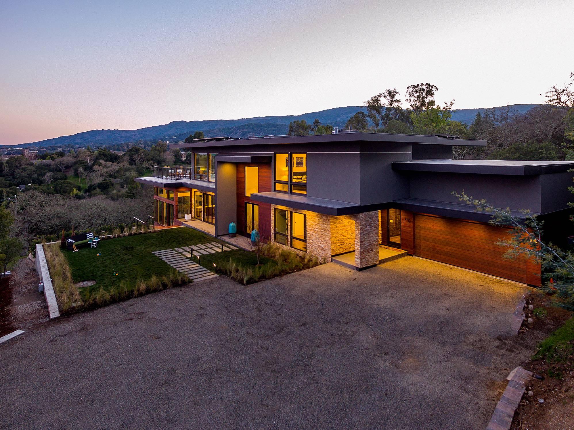Modern Facade, Los Altos Hills, Modern design work