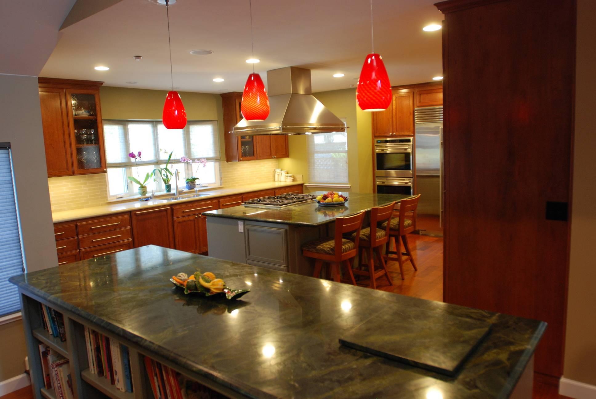 Open Concept Kitchen Large Island, Architect work, Interior design work, Mountain View