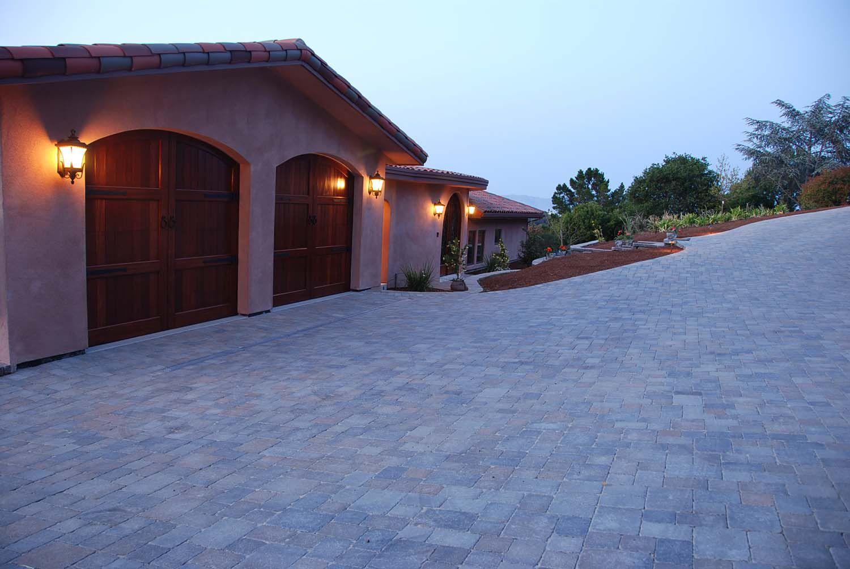 Paver driveway, architect design, Los Altos Hills