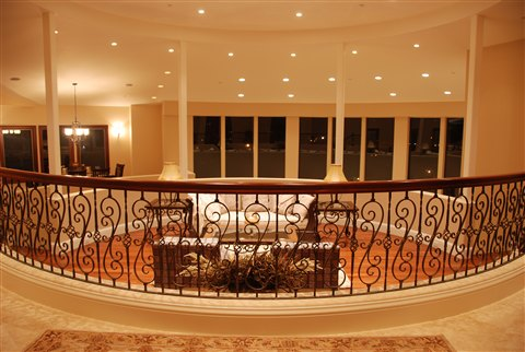 Scroll railing, best interior design, Los Altos Hills
