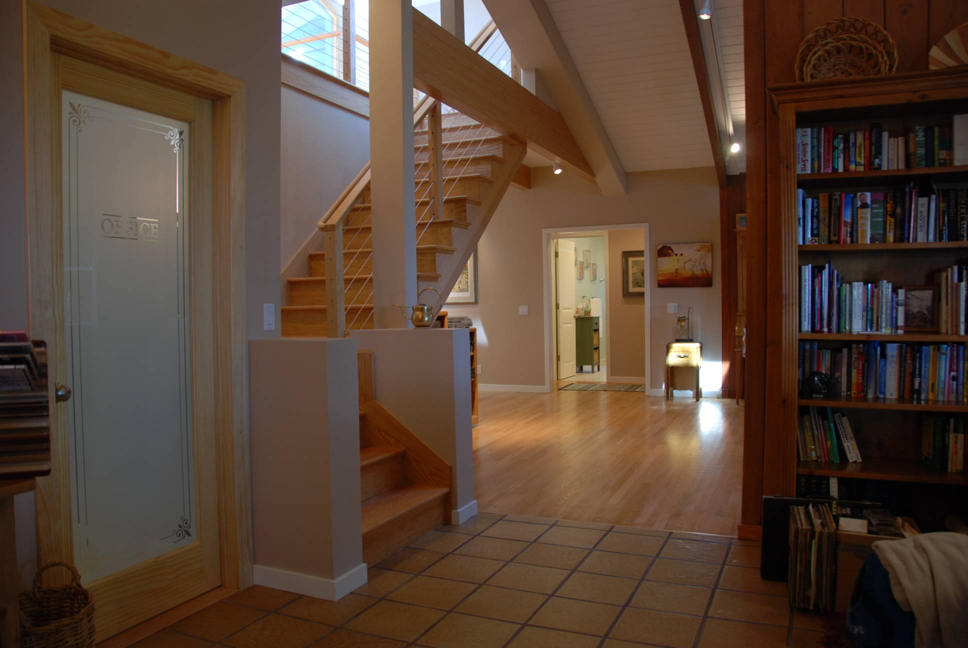 Traditional wood staircase, Architect design, interior design work, Woodside