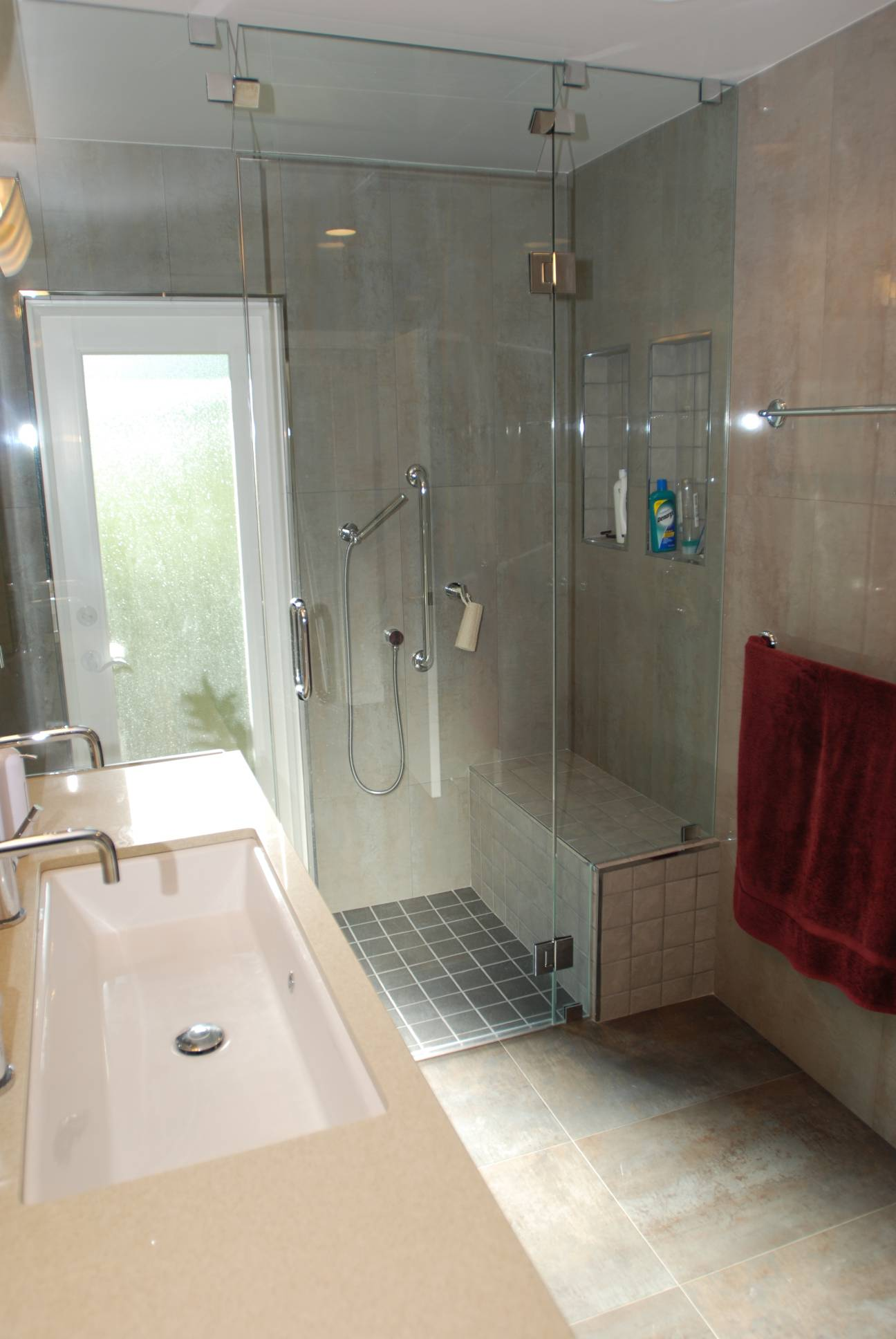 Walk-In Shower, Architect work, Interior design work, Menlo Park