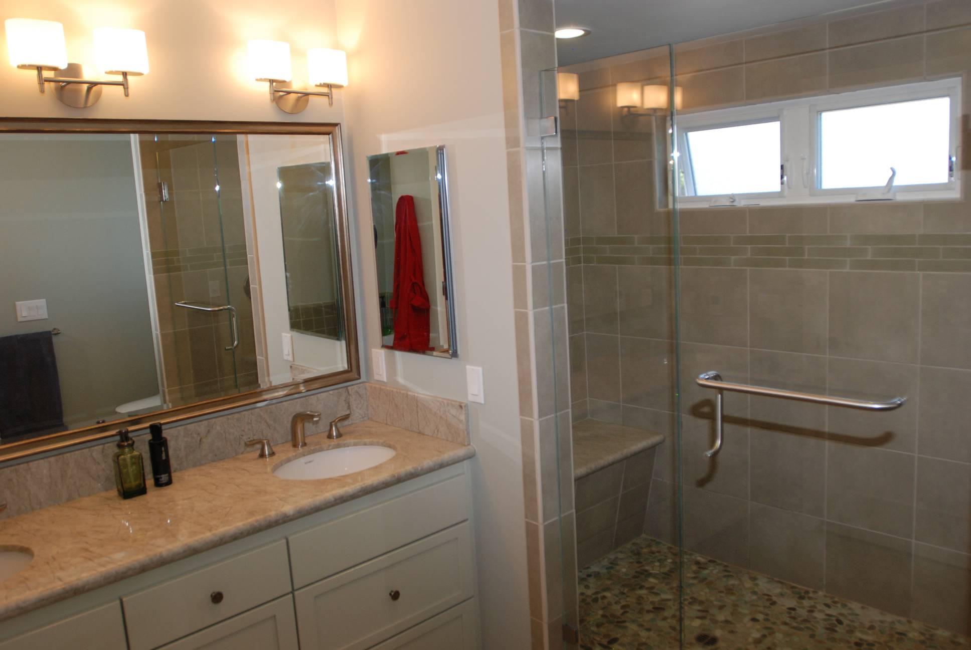 Walk-in Shower, Architect design, interior design work, Mountain View