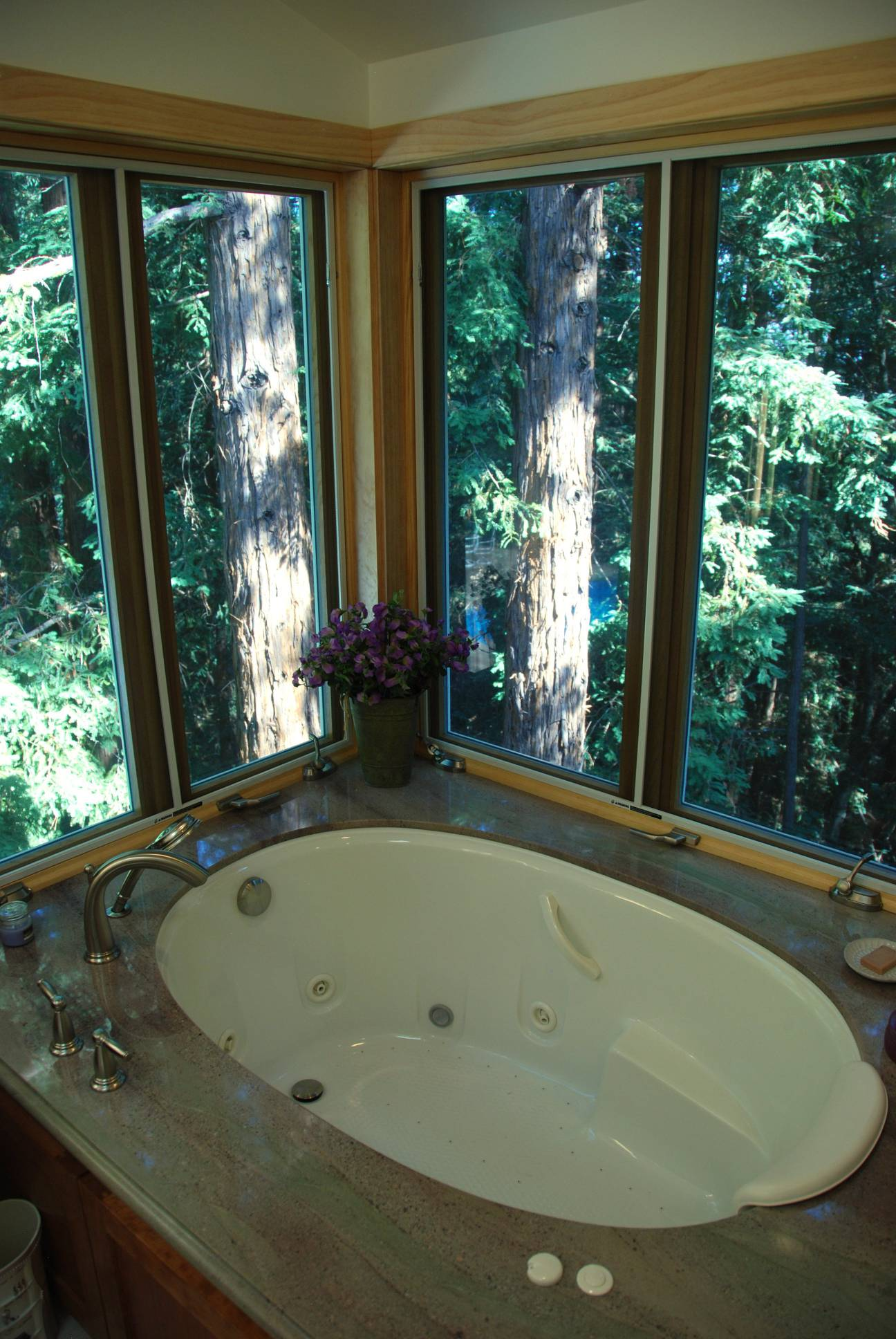 Whirlpool jacuzzi with view, Architect design, interior design work, Woodside