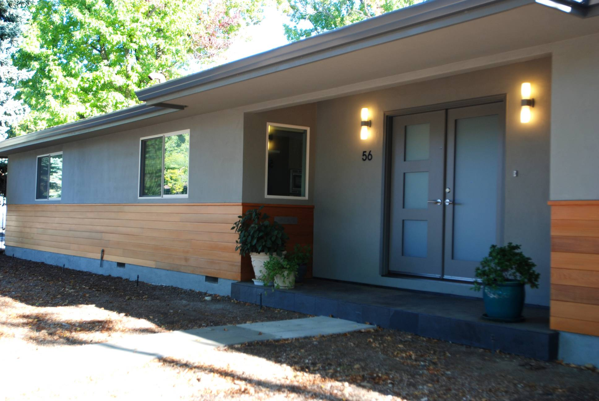Wood plank facade, Elegant Architect work, Interior design work, Menlo Park