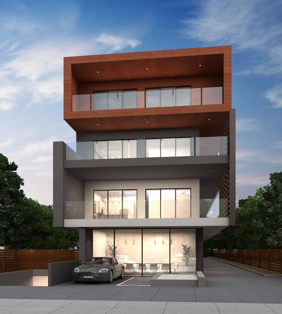 modern contemporary multi unit facade, architect design