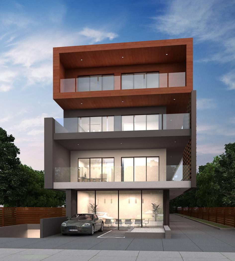 modern contemporary multi unit facade, architect design