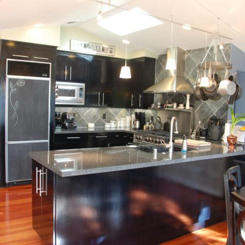 modern kitchen grey countertops design inlays, Splendid Architect design, interior design work, Mountain View