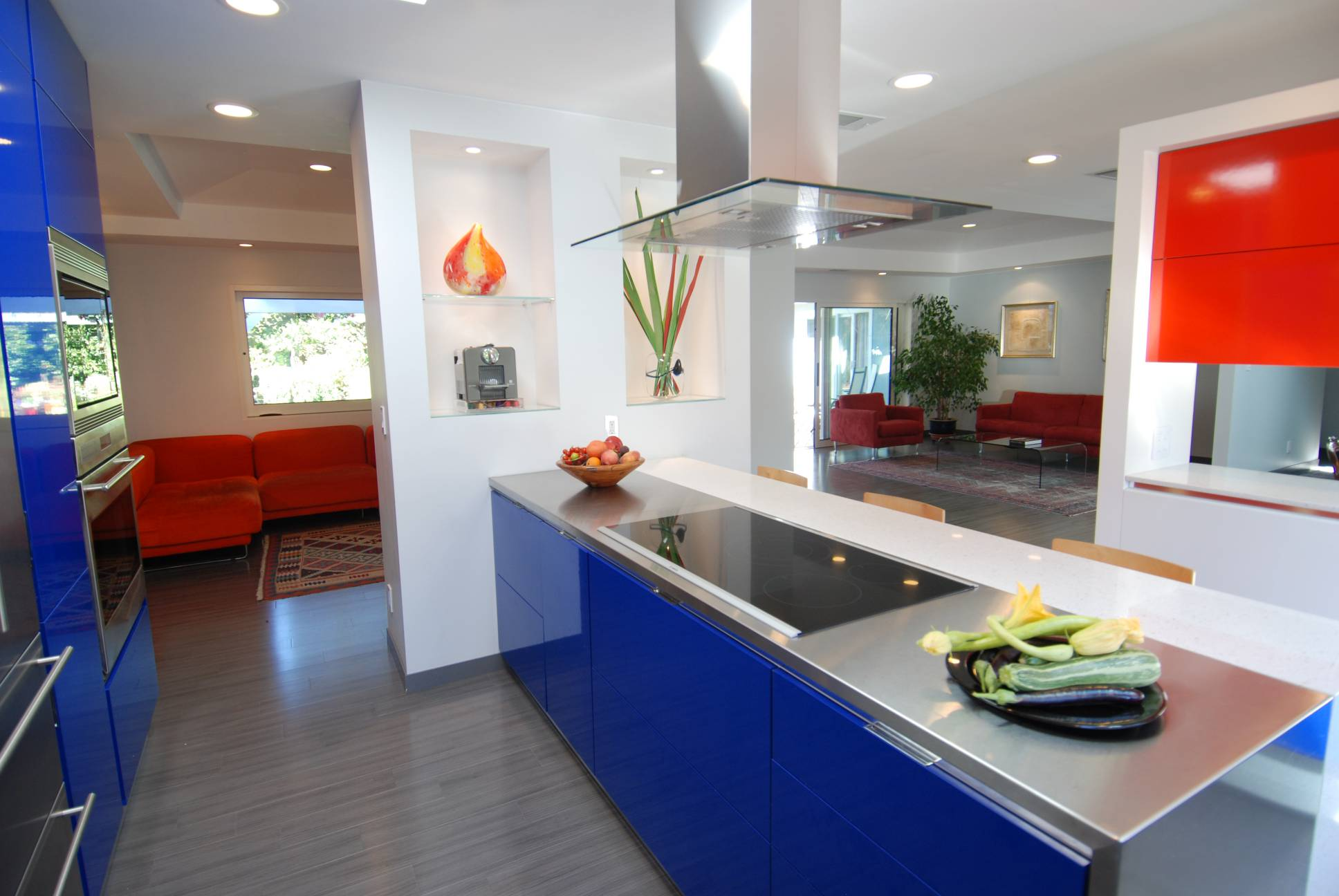 modern kitchen living area, architect work, Los Altos
