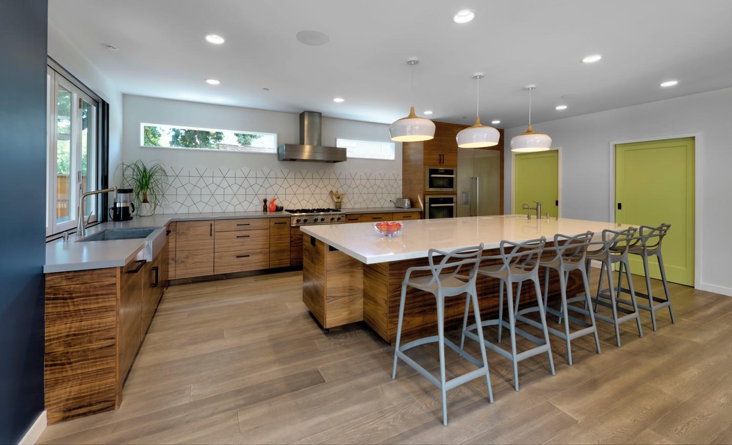 Modern Wooden Dinning ,Kitchen , Los Altos