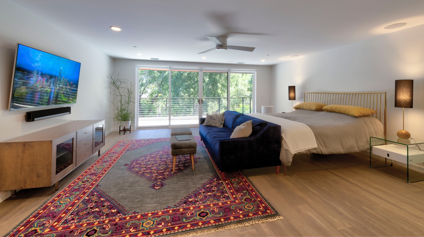 Modern bed room design, Los Altos, california
