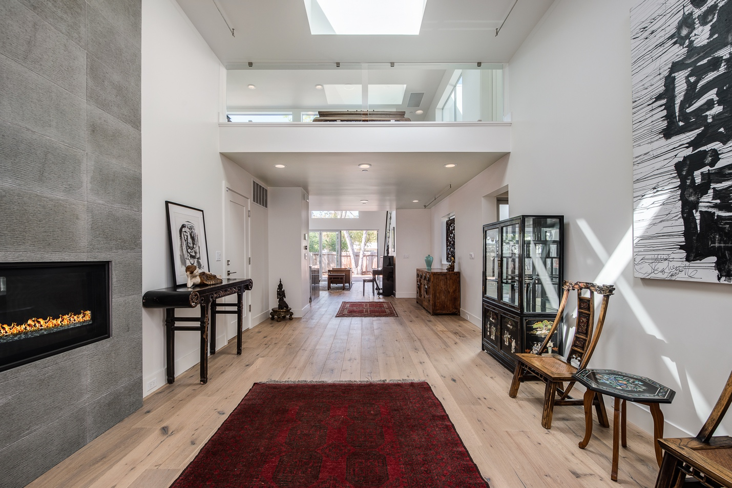 Classical Corridor, interior work, architect design, Menlo Park