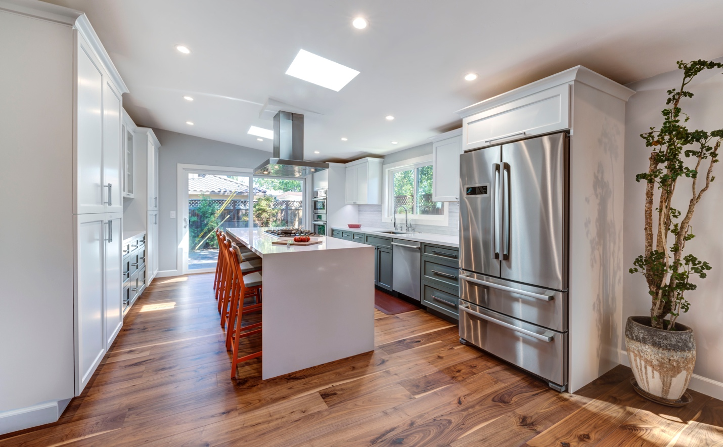 Modern large kitchen, interior design, architect work, Sunnyvale