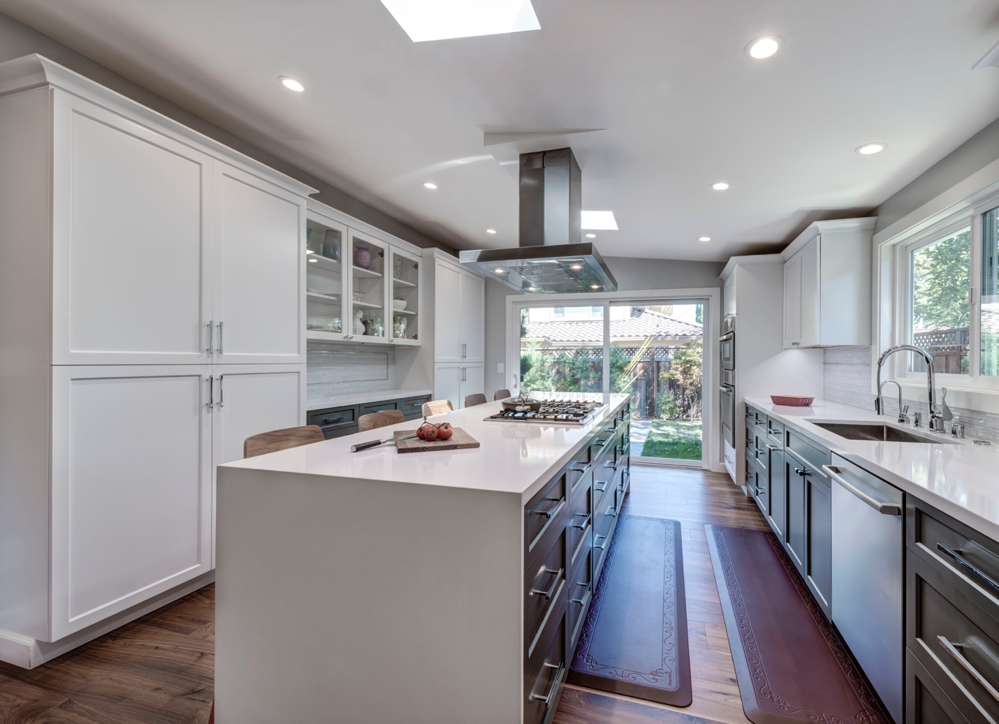 Elegant large kitchen, interior design, architect design, Sunnyvale