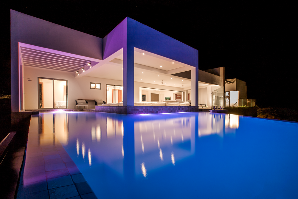 Modern large pool, best architect design,Acuarela Dream Residence