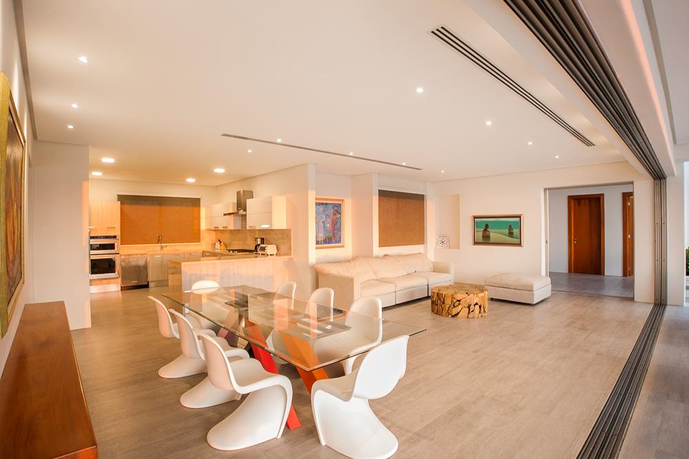 Modern sitting area, interior design. Acuarela Dream Residence