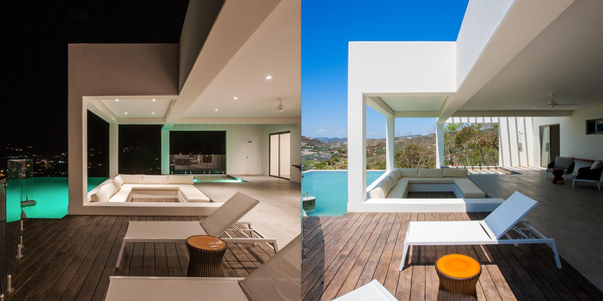 Modern pool, architect design Acuarela Dream Residence
