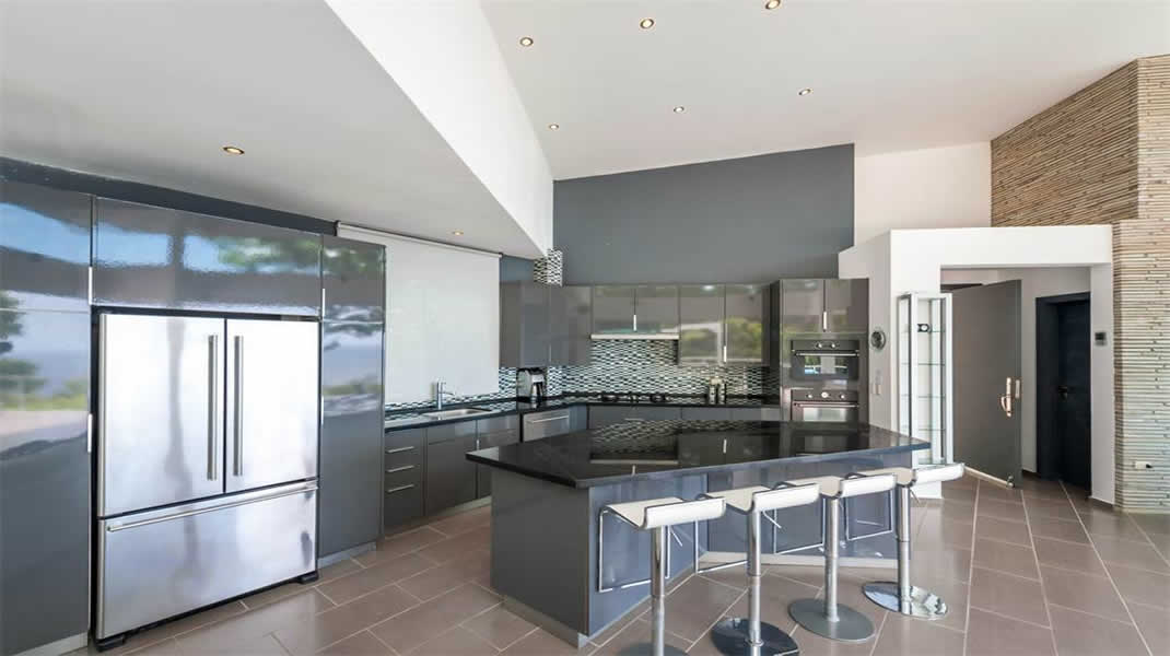 Modern kitchen, architect design, T6 Beach Residence