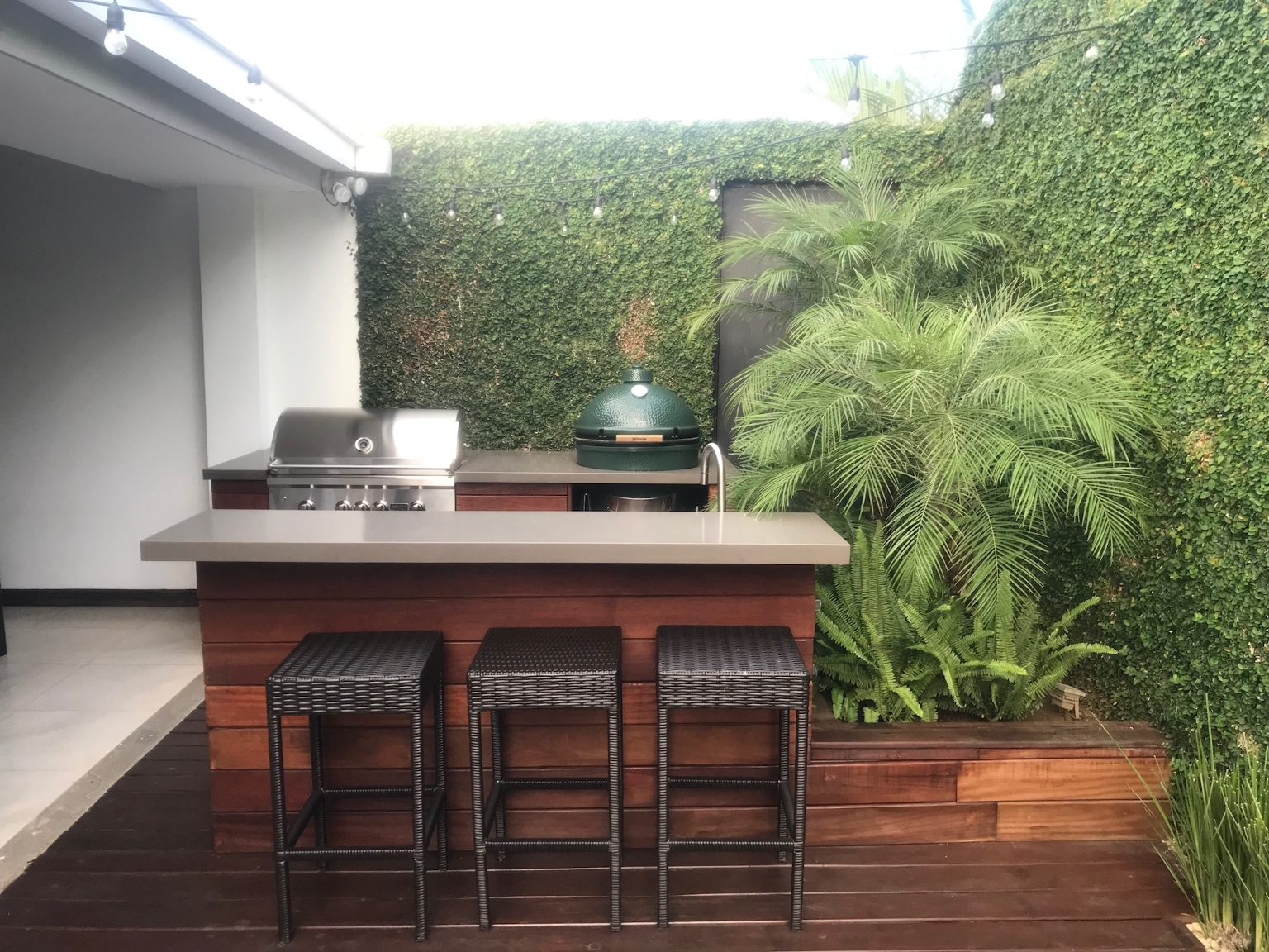 Outdoor kitchen, beautiful area, exterior work, architect design, Portal 45 Residence